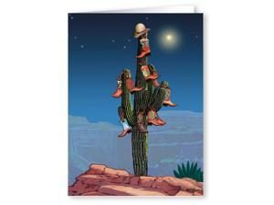 Cowboy Boot Christmas Tree - Western Christmas Card - 18 Cards & Envelopes