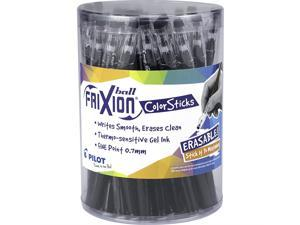 PILOT FriXion Color Sticks Erasable Gel Pens Tub (with lid) of 36 pk Black; Make Mistakes Disappear, No Need For White Out. Smooth Lines to the End of Page, America's #1 Selling Pen Brand
