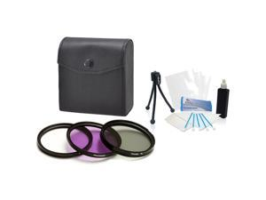 Mini Travel Tripod UltraPro Bundle Includes: Deluxe Cleaning Kit with Deluxe Filter Carry Case for Select Olympus Digital Cameras UV, CPL, FLD Camera Screen Protector 40.5mm Filter Kit