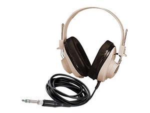 Califone 2924AV 2924AV Deluxe Mono Headphones, White/Black
