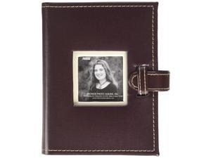Pioneer Photo Albums 208 Pocket Sewn Tan Faux Suede Frame Cover Album with Embroidered Patch Trim for 4 by 6-Inch Prints