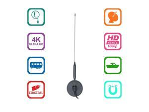 TV Antenna for HDTV indoor- Portable Indoor Outdoor TV Antenna for ATSC Television, Digital converter box, PCI/USB TV Tuner with up to 50+ Mile reception range, Magnetic base, Wall Mounting kit