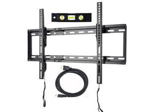 "VideoSecu Mounts Tilt TV Wall Mount Bracket for Most 23""- 75"" Samsung, Sony, Vizio, LG, Sharp LCD LED Plasma TV with VESA 200x100 400x400 up to 684x400mm, Bonus HDMI Cable and Bubble Level MF608B2 WT1"