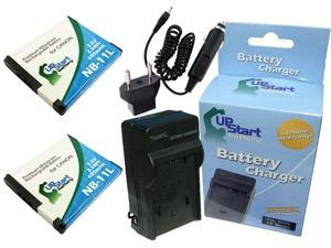Replacement for Canon G7X Battery 2 Pack Compatible with Canon NB-13L Digital Camera Battery and Charger Charger with EU Adapter 1250mAh 3.6V Lithium-Ion