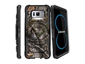 MINITURTLE Case Compatible w/ S8 Holster Camo Case| Samsung Galaxy S8 Case| SMG950