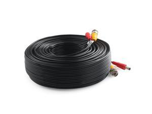 Lknewtrend 150 Feet Pre-Made All-in-One Siamese BNC Video and Power Cable Wire Cord with Two Female Connectors for CCTV Security Camera & DVR (Black)