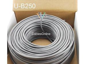 Offex Bulk Shielded Cat5e Gray Ethernet Cable Pullbox Stranded 1000 foot