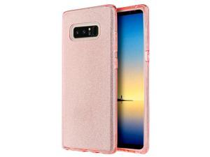 Galaxy Note 8 Case, Dreamwireless Starry Dazzle PC/TPU Rubber Case Cover for Samsung Galaxy Note 8, Pink