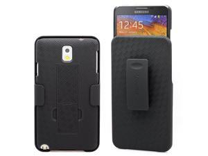 Galaxy Note 3 Case, Aduro Combo Shell & Holster Case Slim Shell Case w/Built-in Kickstand + Swivel Belt Clip Holster for Samsung Galaxy Note 3