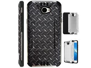 For Huawei Ascend XT2/Huawei Ascend XT 2/Huawei Elate 4G Case Brushed Metal  Texture Hybrid TPU KombatGuard Phone Cover (Palm Tree) - Newegg com