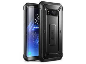 SUPCASE Galaxy S8 Case, Full-Body Rugged Holster Case Without Screen Protector for Galaxy S8 (2017 Release), Unicorn Beetle PRO Series - Retail Package (Black/Black)