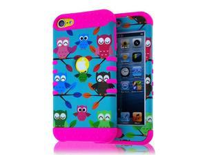 HYBRID HIGH IMPACT CASE CORAL PINK COSMIC CHEVRON 6th Gen For iPod Touch 5th