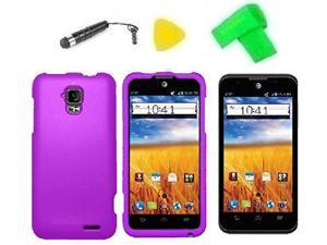 Phone Cover Case Cell Phone Accessory + Extreme Band + Stylus Pen + LCD Screen Protector + Yellow Pry Tool For GoPhone AT&T ZTE Mustang Z998 Prepaid (Purple)