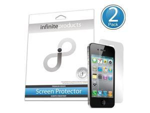 Infinite Products DeflectorShield Screen Protection Film for iPhone 4 - AT&T and Verizon - 2 Pack - Retail Packaging - Anti-Fingerprint