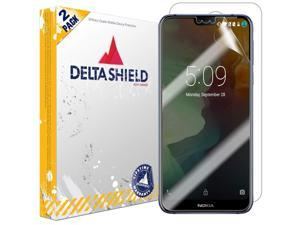 Nokia 7.1 Screen Protector [2-Pack], DeltaShield BodyArmor Full Coverage Back + Front Screen Protector for Nokia 7.1 Military-Grade Clear HD Anti-Bubble Film