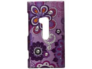 Dream Wireless Spot Diamond Case for Nokia Lumia 920 - Retail Packaging - Purple Violet