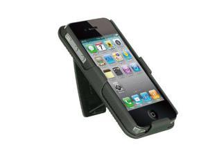 Dream Wireless Compatible Snap On Case for iPhone 4/4S with Kickstand Holster Combo - Retail Packaging - Black