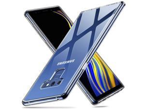 ESR Glass Case for Galaxy Note 9, 9H Tempered Glass Back Cover[Scratch-Resistant]+Soft Silicone Bumper Compatible for Samsung Galaxy Note 9, Clear