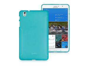 BoxWave Samsung Galaxy Tab Pro 8.4 FlexSuit, Premium TPU Skin Case w/ Extra Grip (Azure Blue)