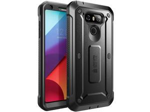 LG G6 Case, SUPCASE Full-Body Rugged Holster Case with Built-in Screen Protector for LG G6 2017 Release, Unicorn Beetle PRO Series - Retail Package (Black)