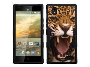 ZTE Warp Elite case - [Cheetah Roar]( Black / Black) PaletteShield(TM) [TuMax]dual layer cell phone armor cover hybrid hard skin guard shell