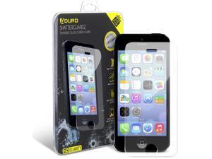 iPhone SE / 5 / 5S / 5C Tempered Glass Screen Protector - Aduro Shatterguardz Anti-Scratch, Anti-Fingerprint Coating, Ultra-Sensitive Touch Tech for Apple iPhone SE / 5 / 5S / 5C