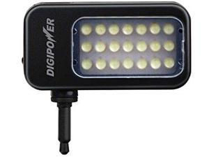 DigiPower LED Light for Smartphones and Tablets - Retail Packaging - Black