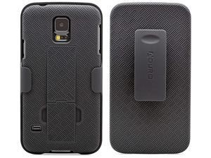 Galaxy S5 Case, Aduro Combo Shell & Holster Case Super Slim Shell Case w/Built-in Kickstand + Swivel Belt Clip Holster for Samsung Galaxy S5
