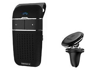 HH Scott Bluetooth Hands-Free Car Speakerphone, Magnetic Phone Mount, S100103, Black