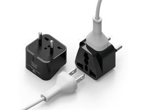 elago Tripshell Grounded Universal Dual Plug Travel Adapter - CE Certified, RoHS Compliant - 2Pcs (EUROPE-C)