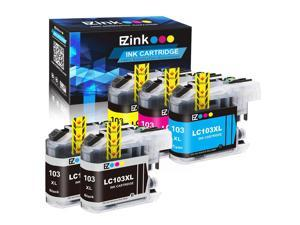 E-Z Ink (TM) Compatible Ink Cartridge Replacement for Brother LC-103XL LC103XL LC103 XL LC103BK LC103C LC103M LC103Y to use with DCP-J152W MFC-J245 (2 Black, 1 Cyan, 1 Magenta, 1 Yellow, 5 Pack)