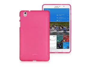 BoxWave Samsung Galaxy Tab Pro 8.4 FlexSuit, Premium TPU Skin Case w/ Extra Grip (Cosmo Pink)