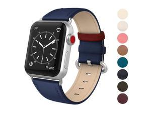 3ccdf53a2aa645 SWEES Leather Band Compatible iWatch 38mm 40mm, Genuine Leather Elegant Dressy  Replacement Strap Compatible iWatch