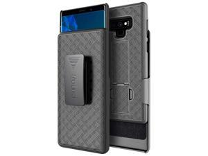 Aduro Samsung Galaxy Note 9 Belt Clip Holster Case, Combo Galaxy Case with Kickstand Rotating Belt Clip Super Slim Shell for Samsung Galaxy Note 9 (ONLY) Phone (2018)