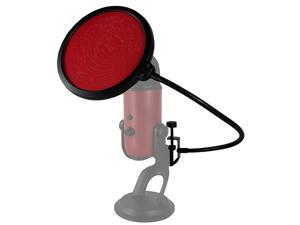 HDE 6 Inch Pop Filter Shield Studio Microphone Wind Screen with Stand Clip for ...