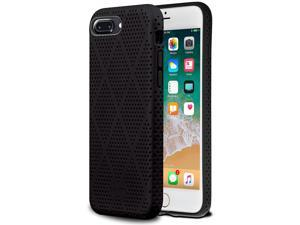 Aduro iPhone 8 Plus iPhone 7 Plus Case, Slim Mesh Coated Case, Shock-Absorption Corner Impact Edge Protection Cover for Apple iPhone 8/7 Plus (Black/Gray)