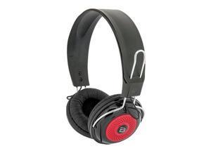 Bytech 3.5mm Stereo DJ Style Headset (Diamond Black/Red)