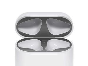 elago Dust Guard for AirPods [Matte Space Grey][2 Sets] - [Chromium Plating][Protect AirPods from Iron/Metal Shavings][Luxurious Looking][Must Watch Installation Video]