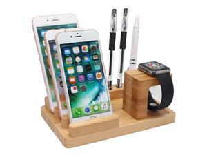 Cellphones & Telecommunications Travel Universal Hotel Charging Bamboo Desktop With Slots Home Organizer Multi Device Holder For Phones Tablets Office School Mobile Phone Holders & Stands