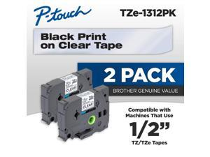 PT-P700 Label Maker 2//Pack 18mm Gold on Black Tape for P-touch Model PTP700