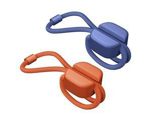 Bluelounge Pixi Small - Cable Ties - Blue & Orange