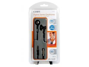Coby CVE97 Deep Bass Neck Strap Stereo Earphones CV-E97 (Black) (Discontinued by Manufacturer)