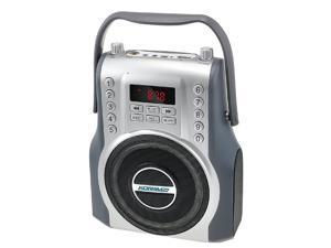 KORAMZI Karaoke Portable Rechargeable Boombox Bluetooth,USB,SD, FM Radio, AUX in, 3.5 mm Audio Jack, Bluetooth Call Answering, Electric Guitar Audio Input, MIC Jack KS-200SI (Silver)