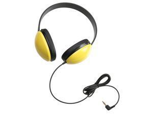 Califone Listening First Stereo Headphones, Yellow