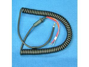 Replacement MIC CORD - 6 wire - 10 Ft Coiled - CB / Ham Radio - Workman MIL10