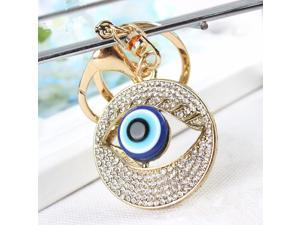 Blue Evil Eye Keychain Ring Protection Religious Charm Birthday Blessing Congratulatory Gift