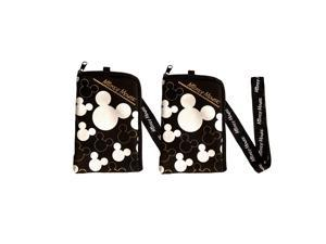 Disney Mickey Mouse Lanyard 2 Pack Silver / Black