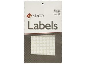MACO White Round Multi-Purpose Labels, 5/16 Inches in Diameter, 1000 Per Box (MR-505)