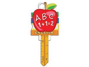 Lucky Line Key Shapes, TEACHER,  House Key Blank, SC1, 1 Key (B131S)