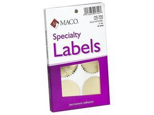 MACO Gold Foil Notarial Seals, 2 Inches in Diameter, 42 Per Box (OS-720)